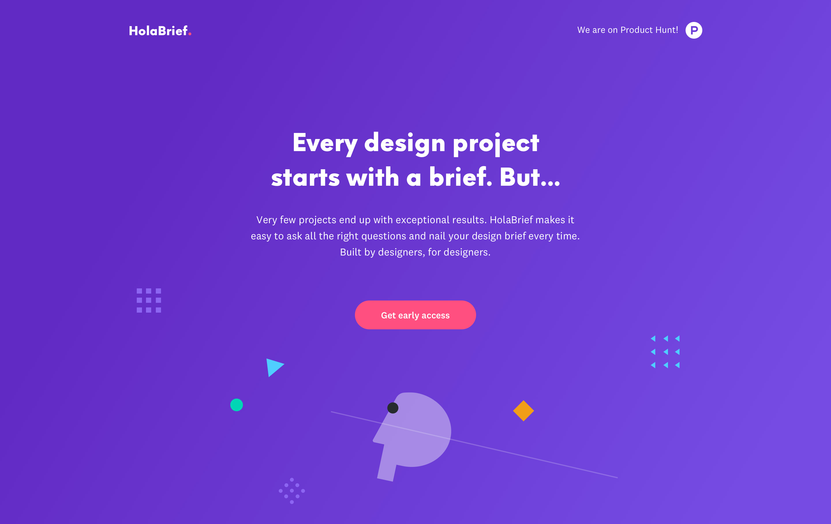 HolaBrief landing page